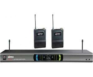 MIPRO MR823D/MT801a*2 Радіосистема UHF (803.375/821.250 MHz) два натільних передавачі