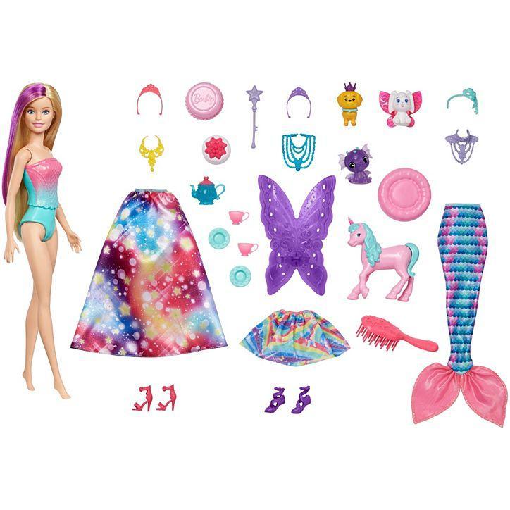 Barbie Адвент календарь Барби Дримтопия (Адвент календарь 2020 Dreamtopia Advent Calendar Mattel GJB72)