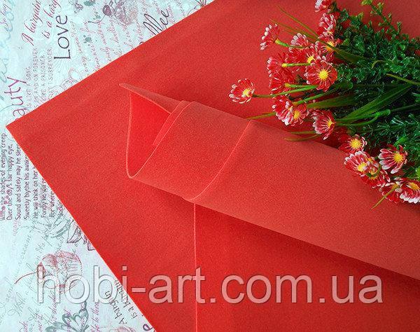 Фоаміран зефірний 1мм 50х50 см №08 червоний (Китай) див.описання
