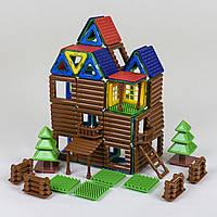 Магнитный конструктор 8857 набор 3D домик коттедж
