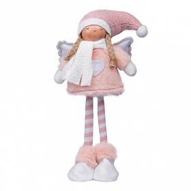 Ангел новогодний Yes! Fun, 16х9х34 см, розового цвета