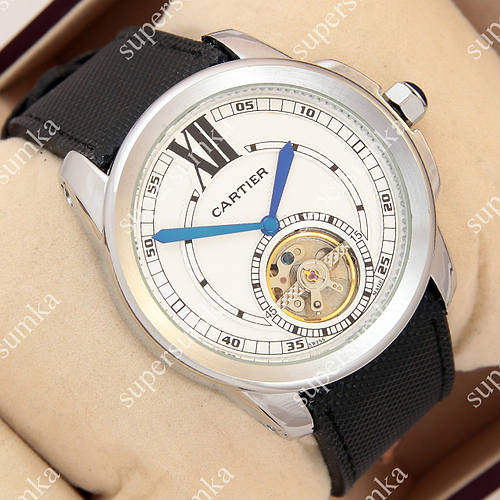 Надежные наручные часы Cartier Tourbilon Silver White 1005-0022 для мужчин