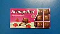 Шоколад TRUMPF Schogetten йогурт клубника 100г