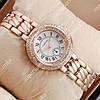 Яркие наручные часы Cartier crystal Pink Gold/White 520 для женщин