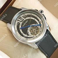 Стильные наручные часы Cartier Silver/Black-white 516 для мужчин