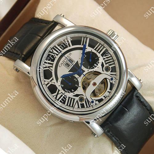 Классические мужские наручные часы Cartier calibre de cartier Silver/Black-white 513