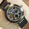 Модные мужские наручные часы Cartier de cartier Silver/Black-white 512