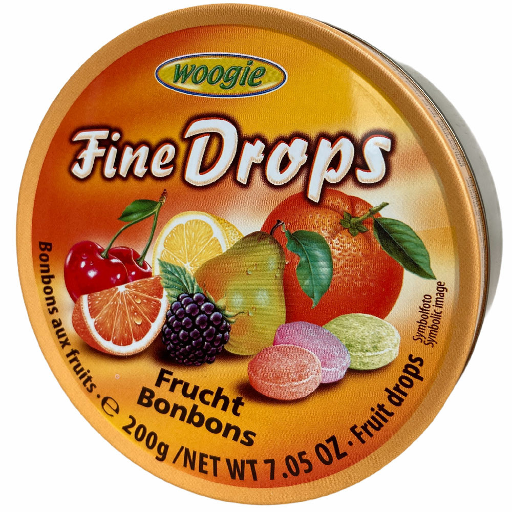 Леденцы Fine Drops Woogie со вкусом фруктов