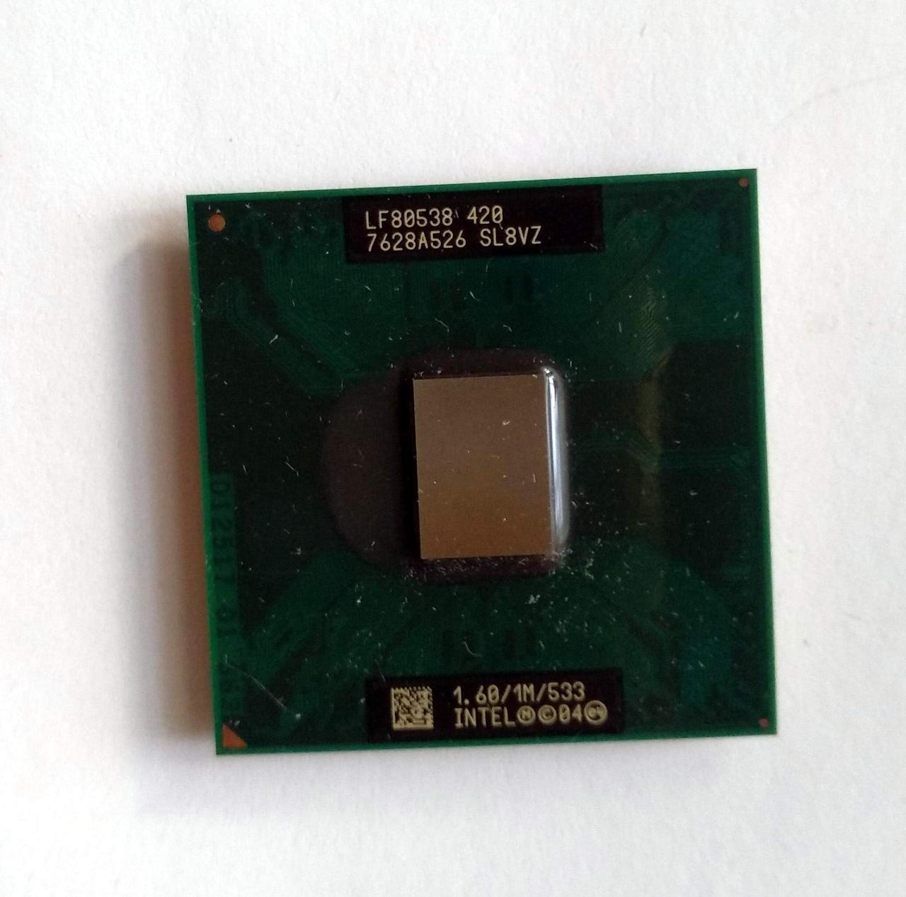 468 Intel Celeron 420 Mobile 1600 MHz SL8VZ Socket M / mPGA478MT 1 ядро 32 бита Процессор для ноутбуков