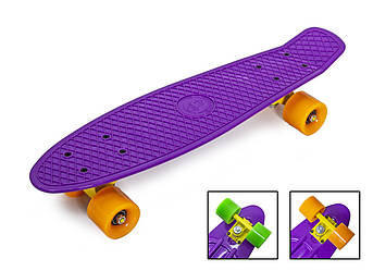 "Penny Board ""Fish"" Фиолетовый цвет."