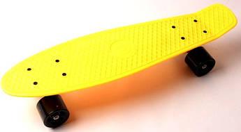 """Penny Board """"Fish""""  Желтый цвет."""