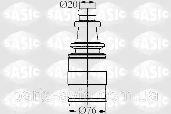 Комплект пылника, приводной вал PEUGEOT 205 I (741A/C) 1.6 SASIC 2873683