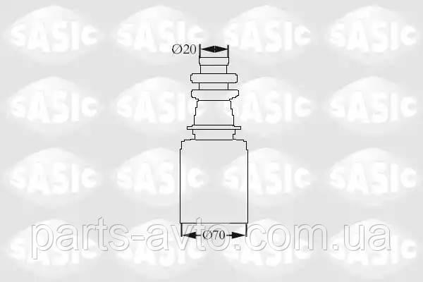 Комплект пылника, приводной вал CITROEN AX (ZA-_) 1.3 Sport SASIC 2873833