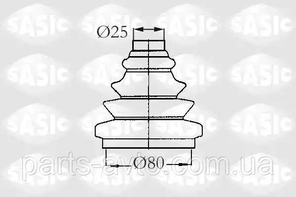 Комплект пылника, приводной вал ALFA ROMEO 145 (930_) 1.6 i.e. (930.A2) SASIC 2933013