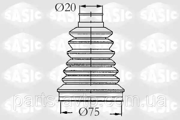 Комплект пылника, приводной вал CITROEN SAXO (S0, S1) 1.0 X SASIC 2933083