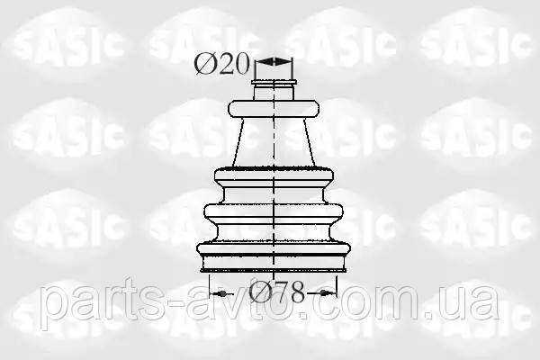 Комплект пылника, приводной вал CITROEN C15 (VD-_) 1.0 SASIC 2933743