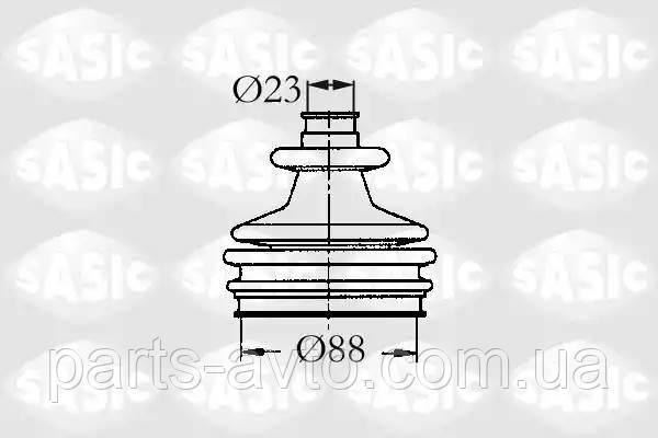 Комплект пылника, приводной вал CITROEN BX (XB-_) 1.8 D SASIC 2933803