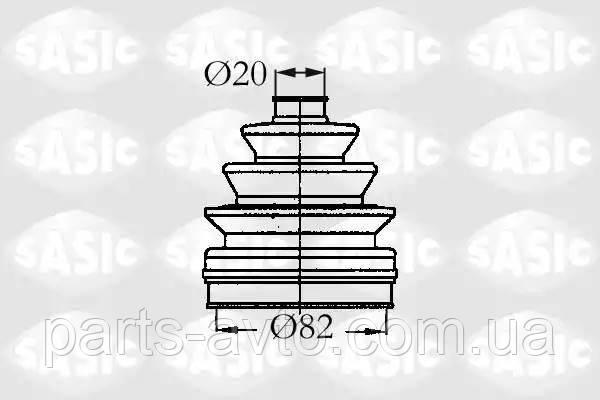 Комплект пылника, приводной вал CITROEN BX (XB-_) 1.8 D SASIC 2933833