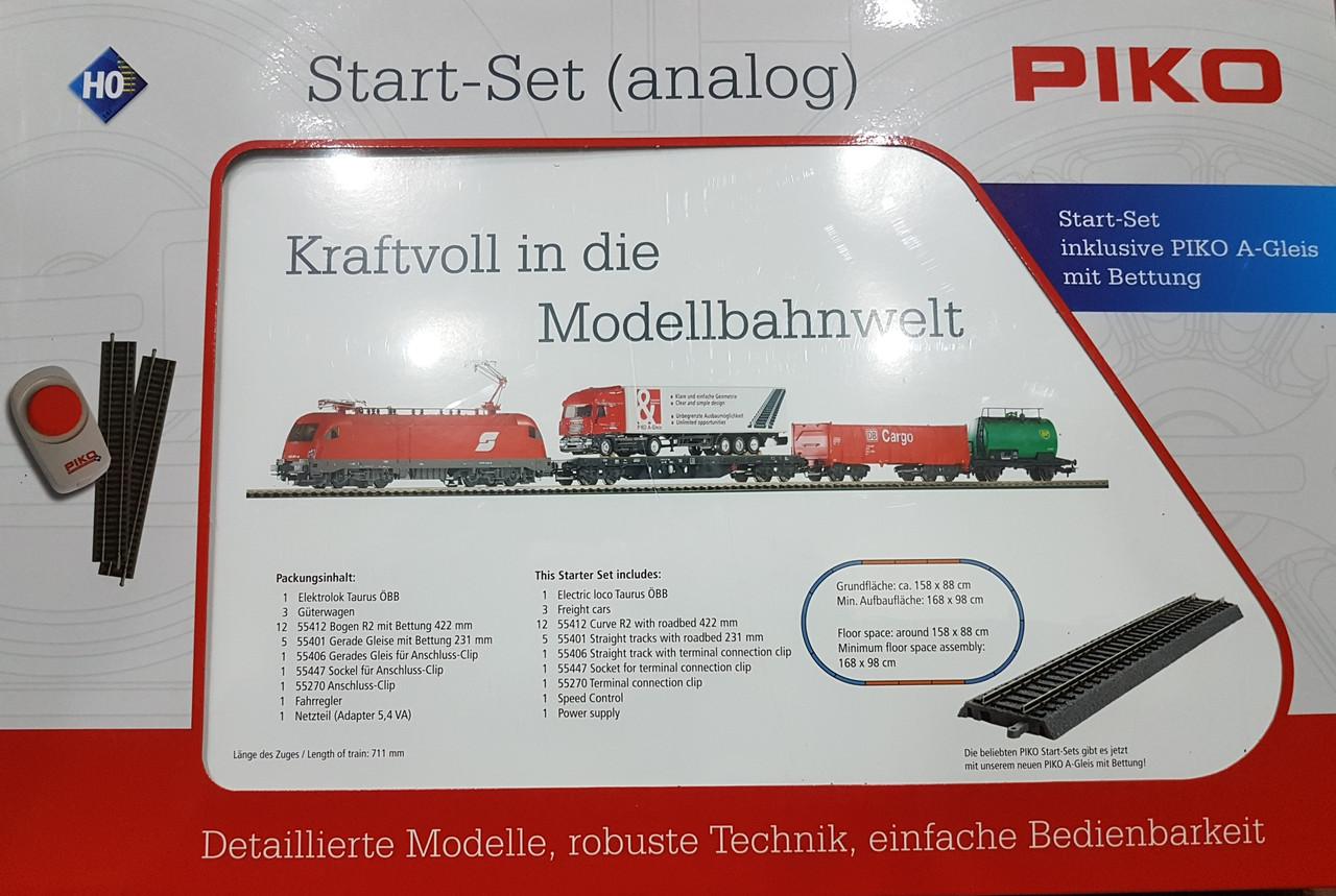 НОВИНКА 2020 ! Детская Железная дорога, Стартовый набор грузовой поезд, масштаба H0,PIKO 57177
