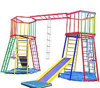 Детский спортивный Комплекс-уголок для дома дачи и улицы: 2 горки и комплект навесного оборудования 62202