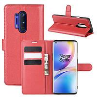Чехол-книжка Litchie Wallet для OnePlus 8 Pro Red