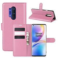 Чехол-книжка Litchie Wallet для OnePlus 8 Pro Pink
