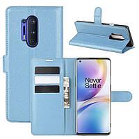 Чехол-книжка Litchie Wallet для OnePlus 8 Pro Blue