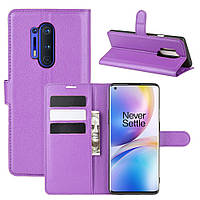 Чехол-книжка Litchie Wallet для OnePlus 8 Pro Violet