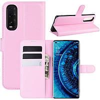 Чехол-книжка Litchie Wallet для Oppo Find X2 Pink