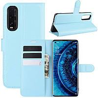 Чехол-книжка Litchie Wallet для Oppo Find X2 Blue