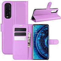 Чехол-книжка Litchie Wallet для Oppo Find X2 Violet