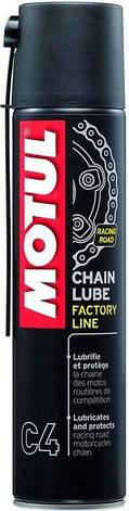 Смазка для цепей дорожных спортивных мотоциклов MOTUL C4 Chain Lube Factory Line (400ML) Франция, фото 2