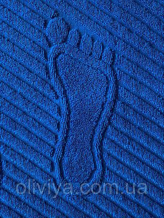 Килимок для ніг махровий синій(електрик) 50х70, фото 2