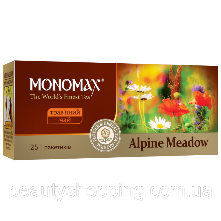 Мономах Alpine Meadow травяной чай 25 пакетов