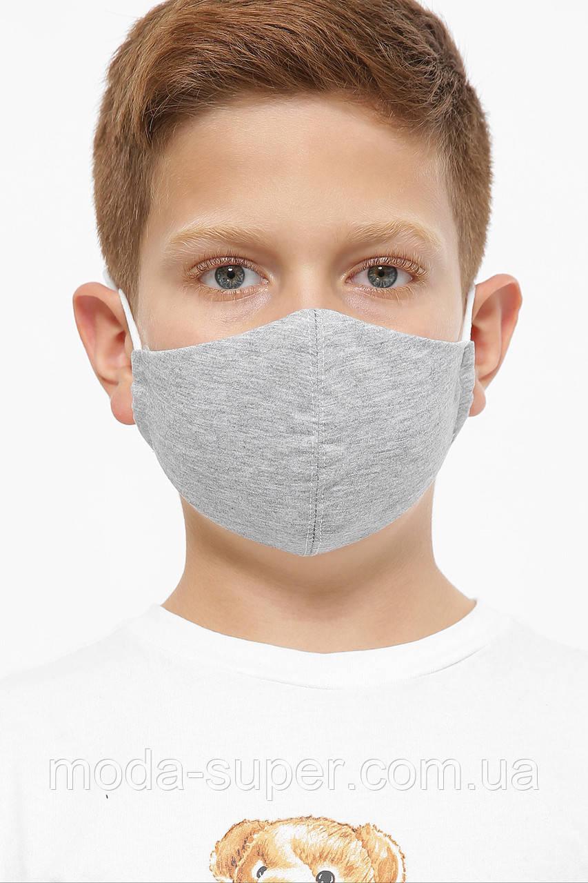 Детская однотонная маска