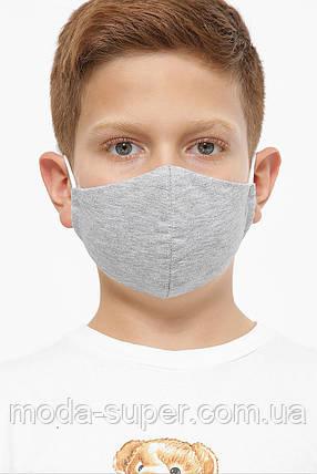 Детская однотонная маска, фото 2