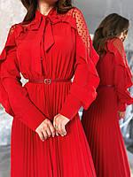 Сукня з плісировка червоне, арт.1053, фото 1