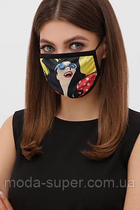 Многоразовая маска с принтом, фото 2