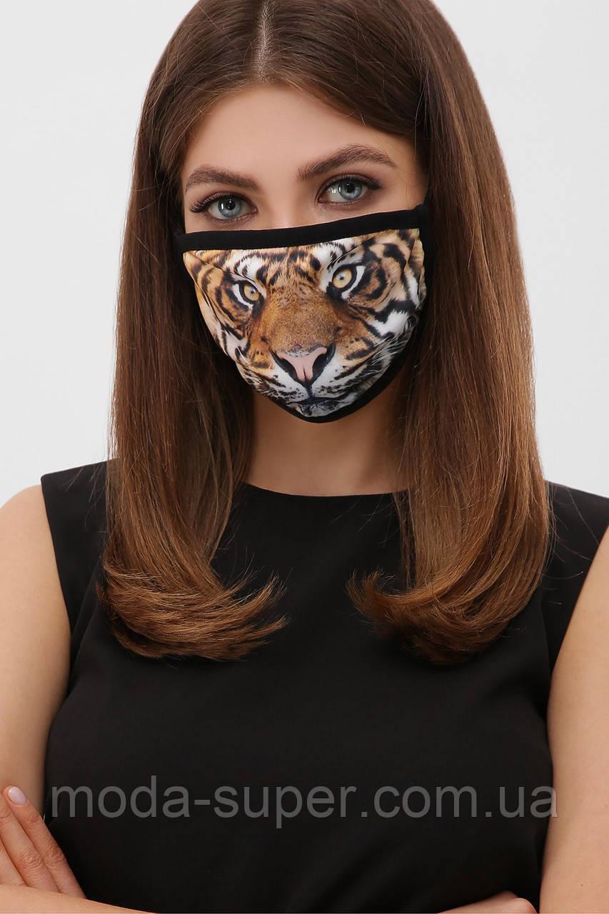 Трикотажная маска двухслойная