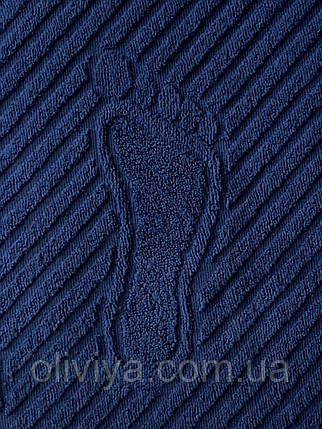Махровый коврик для ног 50х70 синий, фото 2