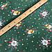"""Польская хлопковая ткань """"Колокольчики со свечкой в еловой ветке на зеленом"""", фото 2"""