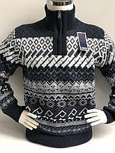 Теплий светр чоловічий з високим горлом і змійкою FIVE 5
