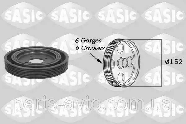 Ременный шкив, коленчатый вал CITROEN BERLINGO (MF) 1.9 D (MFWJZ) SASIC 5150Q60