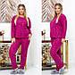 """Женский домашний костюм-пижама в больших размерах 812 """"Полар Жаккард"""" в расцветках, фото 3"""