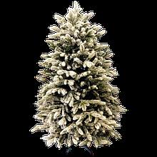Новогодняя Искусственная Елка «Люкс-премиум заснеженный» 1.5 м   130 см. из пластика