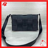 Модная легкая женская сумка из-эко кожи кожзама искусственной кожи через плечо маленькая 2020 черного цвета
