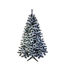 Новогодняя Искусственная Сосна крашенная «Иний» - 1,4 м. | 140 cм. из Лески ПВХ