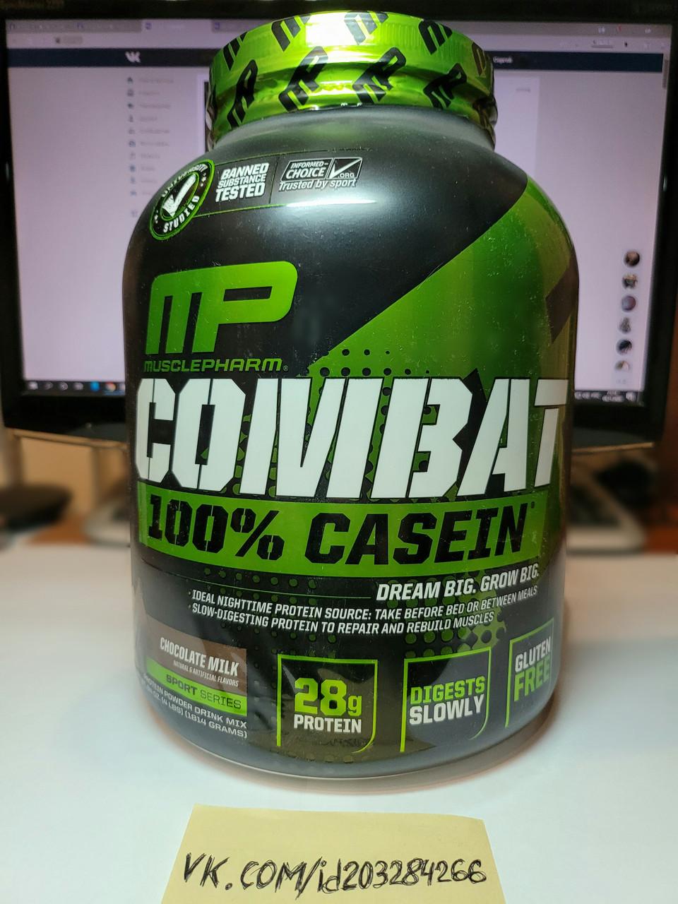 Казеин протеин Muscle Pharm Combat 100% Casein 1,8 кг комбат
