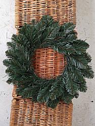 Венок Новогодний ПВХ Лидия зеленый D 35 см