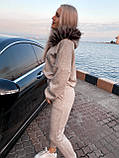 Женский костюм теплый беж, фото 2